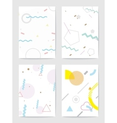 Creative cards with abstract geometric backgrounds vector image