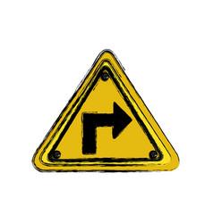 Metal emblem notices warning vector