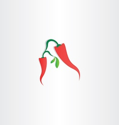 red hot chili pepper icon vector image vector image