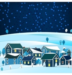01 city winter landscape vector
