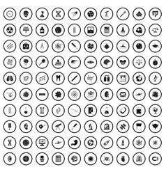 100 science icons set simple style vector