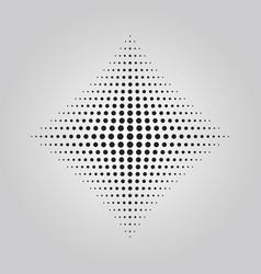 abstract black rhumbus dots halftone effect vector image