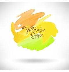 abstract watercolor splash design element vector image