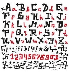 Alphabet Arrows Font vector image