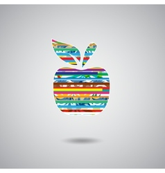 Apple sign color vector image