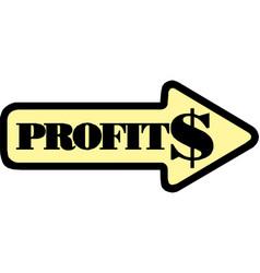 arrow profit chart eps10 vector image
