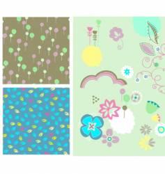 Baby party design elements vector