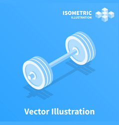 barbell icon vector image