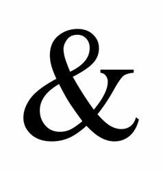 Black ampersand symbol vector