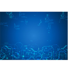 Blue circuit abstract template background vector