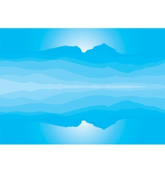 Blue mountain landscape silhouette vector image