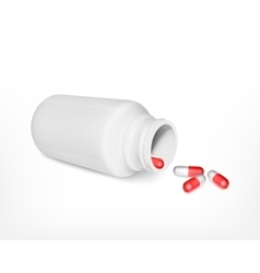 Bottle with pills vector image