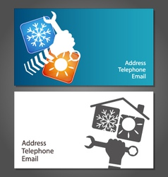 Business card for repair air conditioners vector
