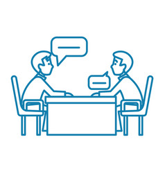 business conversation linear icon concept vector image