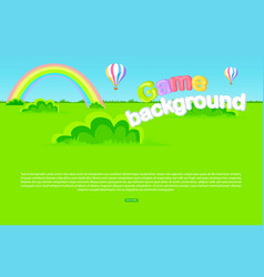 cartoon meadow as game background vector image