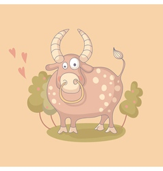 Cartoon of the bull vector