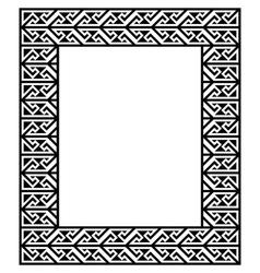 Celtic Key Pattern - frame border vector image vector image