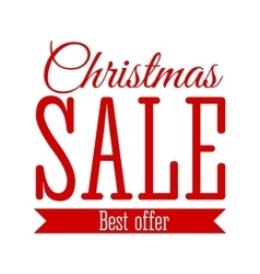 Christmas sale inscription vector