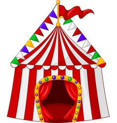 Circus tent cartoon vector