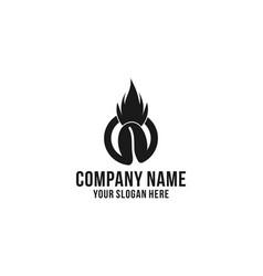 coffee bean fired logo design inspiration vector image