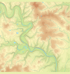 Colored topographic map vector