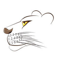 Cute lioness head vector