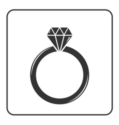 Diamond engagement ring icon 6 vector