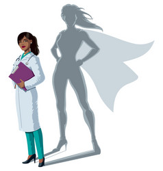 Doctor superheroine shadow vector