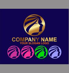 elegant spa logo concept vector image