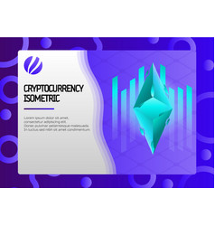 ethereum color isometric concept vector image