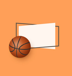 flat cartoon basketball ball banner vector image