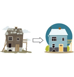 Flip this house vector