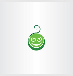 funny green face logo icon element vector image