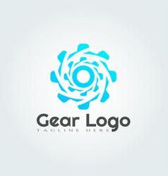 Gear logo designtechnology icon vector