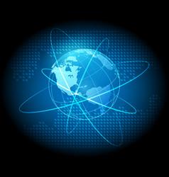 globe futuristic concept background vector image