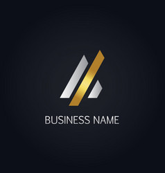 gold line future business logo vector image