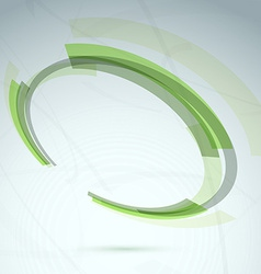 Green abstract spinning wheel element background vector image
