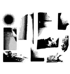 Grunge corners vector