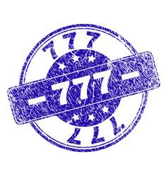 Grunge textured 777 stamp seal vector
