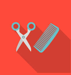 Hairdresser icon in flate style isolated on white vector