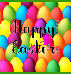 happy easter card happy easter lettering on vector image