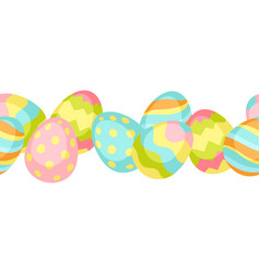 happy easter seamless pattern whit eggs vector image