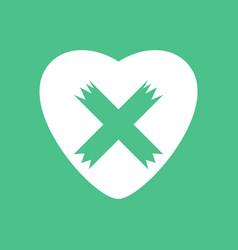 Icon heart plaster icon vector