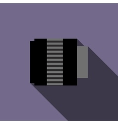 Interchangeable lens for camera icon flat style vector