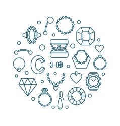 jewellery outline made vector image