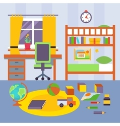 Kid Bedroom vector image