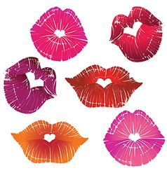 Lip collection vector