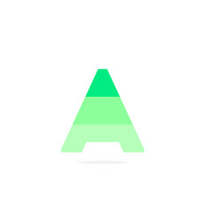 logo letter a green energy battery vector image
