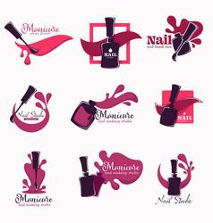 Manicure and nail studio polish or varnish vector