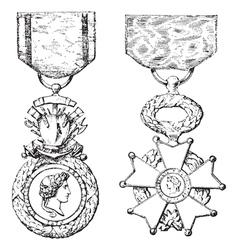Medal legion honor vector
